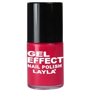 Layla Cosmetics Gel Effect Nail Polish in Coral Red