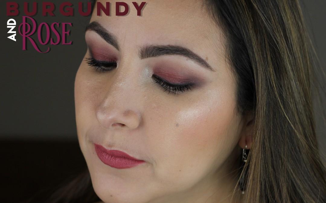 Vino Tinto y Rosa – Look de una sola Sombra